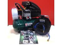 NEW Air Compressor Parkside PKO 270 + 20m Pressure Hose + Tool Accessorises Kit