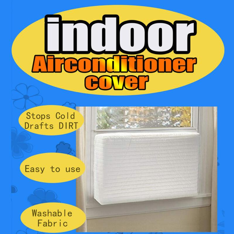 Beige Indoor Window Air Conditioner Cover, Window Unit AC Co