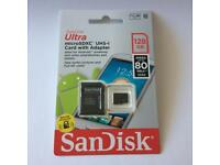 SanDisk Ultra 128GB microSDXC UHS-I Class 10 Memory Card with adapter
