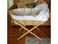 Moses basket, with stand