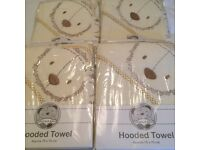 BATH TOWELS, BEAR HOODED TOWELS