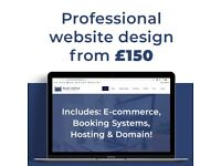 Professional Website Design From £150 Including Hosting/Domain