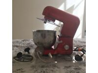 *Like New* Andrew James Stand Mixer in red (with new cover)