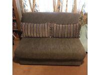 Metz 140cm Sofa Bed Silver / Grey