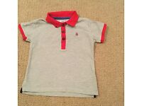 boys mamas and papas 2-3 grey polo shirt