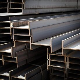 STEEL BEAMS - RSJ STEEL BEAMS - CUT TO SIZE - MIDLANDS DELIVERY - MINIMUM CHARGES APPLY