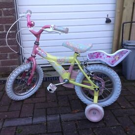Childs Raleigh Princess bike with stabilisers. Was new last Xmas and pretty much unused.
