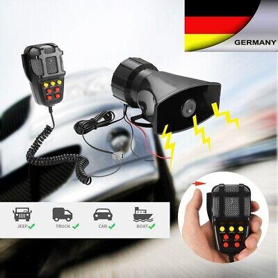 7 Sound Laut 12V Auto Polizei Alarm Sirene Horn+ Mic PA Lautsprecher Warnung/Auf ()