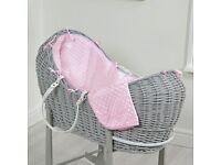 Baby sleeping pod moses basket wicker basket