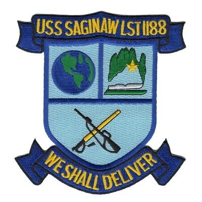 United States Navy USS SAGINAW LST-1188 ship MILITARY NAVY PATCH
