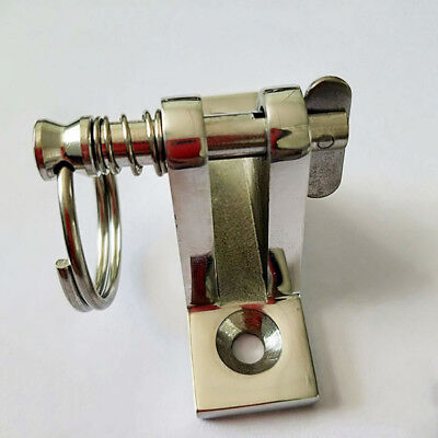 DECK HINGE Bimini Top Stainless Steel Marine Fitting w/ Quick Release Pin & Ring Bimini Deck Hinge