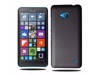 Hard Case Cover For Microsoft Lumia 550 & Screen Protector (Black ) **Brand New*