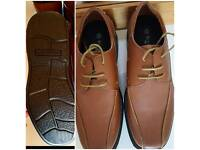 Mens Tan Lace Up