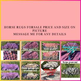 Horse rugs and other items NEED TO GO price on pic