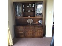 Priory Old Charm Sideboard with Display cabinet.