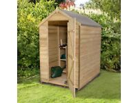 Brand New Unused Pressure treated & Varnished Garden Shed 6x4