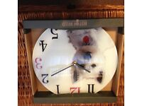 Decorative wall Glass clock (Westie)