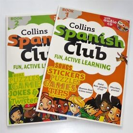 Collins Children's Spanish Active Learning Books c/w CDs & Stickers