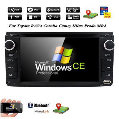 2Din In Dash Car DVD CD Stereo Camera Radio For TOYOTA RAV4 Corolla Camry Tundra