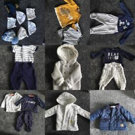 0-3 month baby clothes and shoes