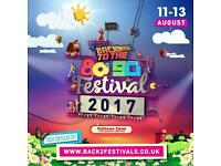 Back to the 80s 90s festival weekend camping ticket for sale £50