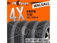4x 185/60R14 Kingpin Tyres 185 60 14 Fitting Available Tyres x4