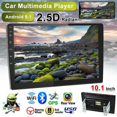 """10.1"""" Car Radio 2 Din Android 9.1 GPS Stereo Navi MP5 Player WiFi Quad Core"""