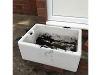 Vintage Belfast Sink for refurbishment or garden decoration.