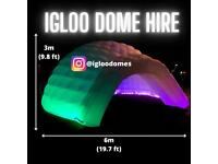 IGLOO DOME HIRE WITH KARAOKE & DISCO LIGHTS/OUTDOOR GARDEN GAZEBO/MARQUEE. PARTY/BIRTHDAY/OCCASION