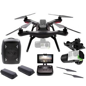 NEW 3DR Solo Smart Drone BackPack Bundle + Gimbal & 2 Batteries