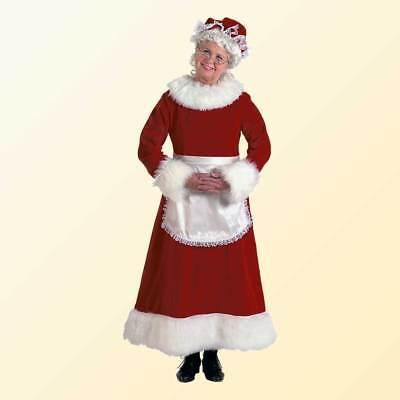 Burgundy Deluxe Mrs. Santa Claus Costume (Burgundy Costume)