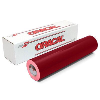ORACAL 651 Outdoor Permanent Vinyl - BURGUNDY 12 in x 10 ft roll