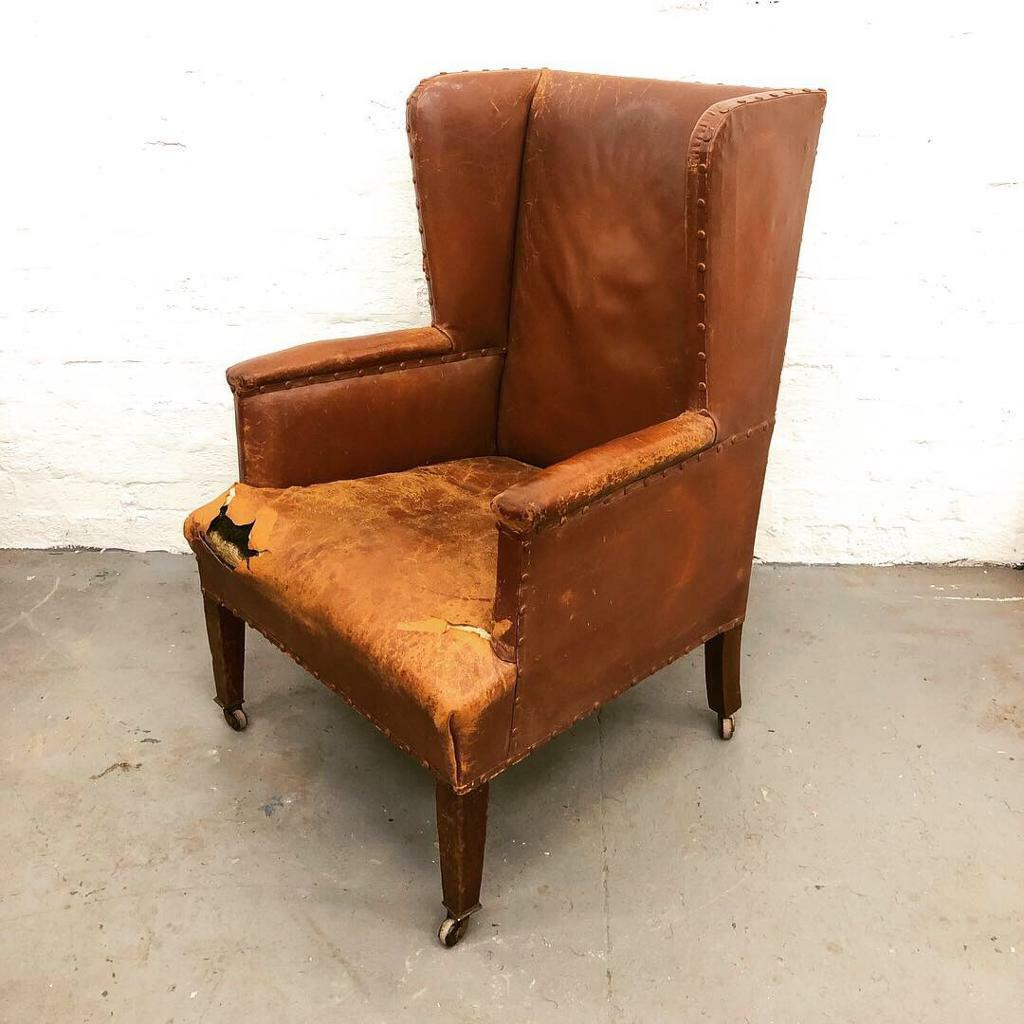 Antique Victorian Wingback Armchair Chair In Kinross Perth And