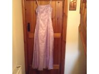 Lovely bridesmaid/prom dress lilac size 10-12