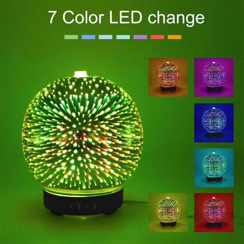 3D Firework Glass Essential Oil Aroma Diffuser LED Ultrasoni
