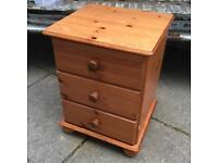 Pine bedroom bedside cabinet drawers