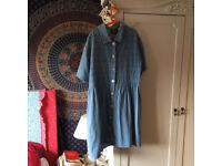 Light, Denim, Oversized Vintage Dress, Size 10/12