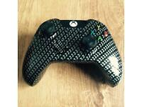 L@@K Carbon fibre XBOX ONE official controller hydro dipped.
