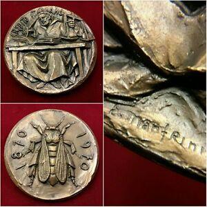 540 - Medaglia per il 100° anniversario del Credito Italiano 1870-1970 - Italia - Prego prima avvisare della restituzione e spedire sempre in raccomandata. - Italia
