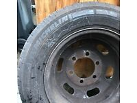 New Michelin tyre with rim for taxi TX1