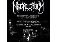 Black death heavy metal vocalist / singer wanted