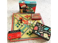 Vintage Family Board Games Kan-U-Go Parcheesi Beat The Time Tiddlywinks