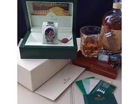 New Silver Black Face Rolex Oyster Perpectual Comes Rolex Bagged And Boxed With Paperwork