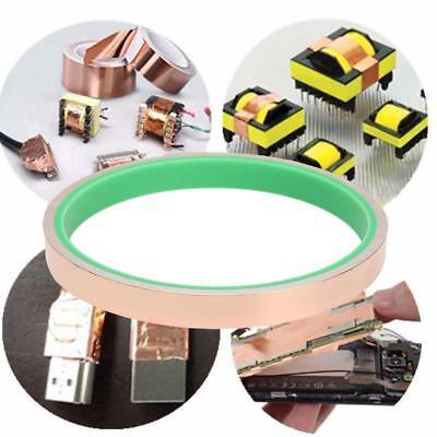 Copper Foil Tape Ribbon Emi Shielding Double Conductive Adhesive 1.2cm3m