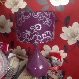 Large purple table lamp