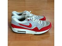 Women's Nike Air Max 1 Ultra Essential Running Shoes Trainers size 6 Chilli Red