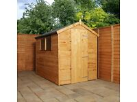 7 x 5 wooden shiplap shed