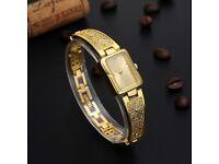 Luxury Ladies/Girls Love Gift WatchBracelet GOLD/SILVER/ BLACK/Watch London