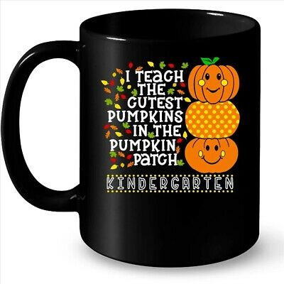 I Teach The Cutest Pumpkins In The Patch Kindergarten Halloween Coffee Black Mug