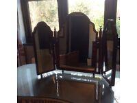 Mahogany Triple Dressing Table Mirror
